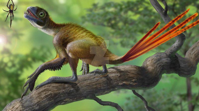 Эпидексиптерикс: Маленький динозаврик с красивым хвостом