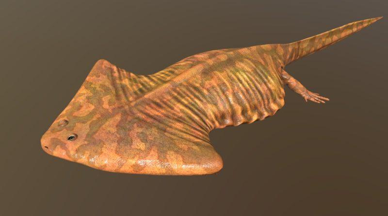 Диплокаулюс: Огромная амфибия с треугольной головой